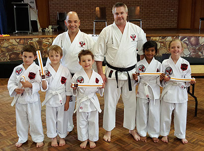 Little Eagles Kids Karate for 5 - 8 year olds at Kan Zen Ryu Karate Figtree
